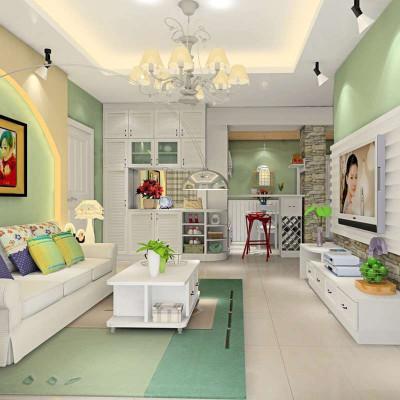 尚品 韩式田园客厅 储物柜电视柜沙发 酒柜餐边柜吧台设计 家具图片