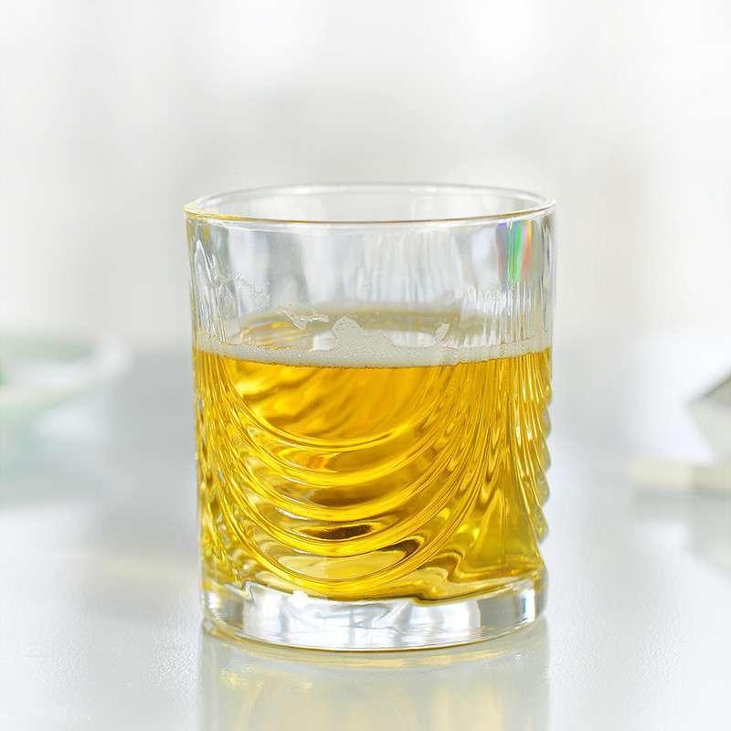 陶瓷故事 啤酒果汁杯 时尚创意透明玻璃杯多功能无铅杯子jz-623 220ml图片