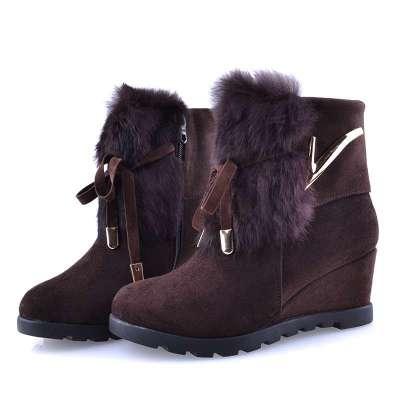 紫门院老北京布鞋女鞋2013秋冬新款女靴中筒靴子高跟
