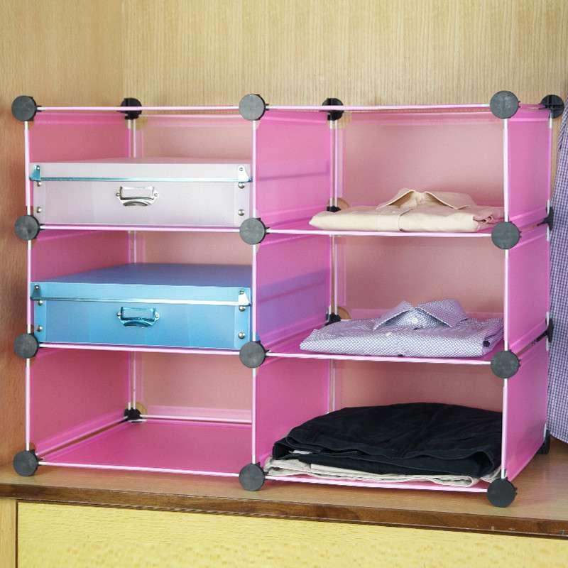 【蔻丝家居】蔻丝六格百变创意衣柜收纳架