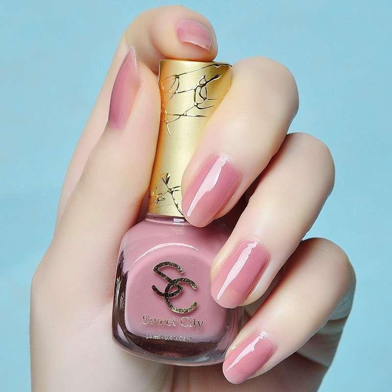 原料进口都市甜心环保果冻指甲油 显白裸粉色mm114 美甲店用品图片