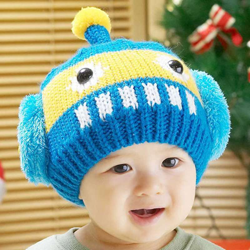 公主妈妈儿童冬帽 套头造型帽