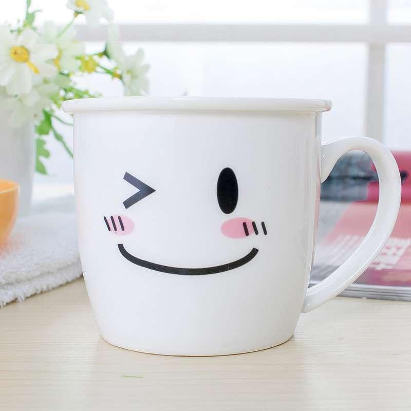 【喜米家居】可爱表情时尚陶瓷杯子卡通杯马克杯具杯