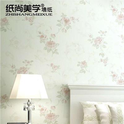 无纺布欧式田园碎花小清新温馨卧室背景图片