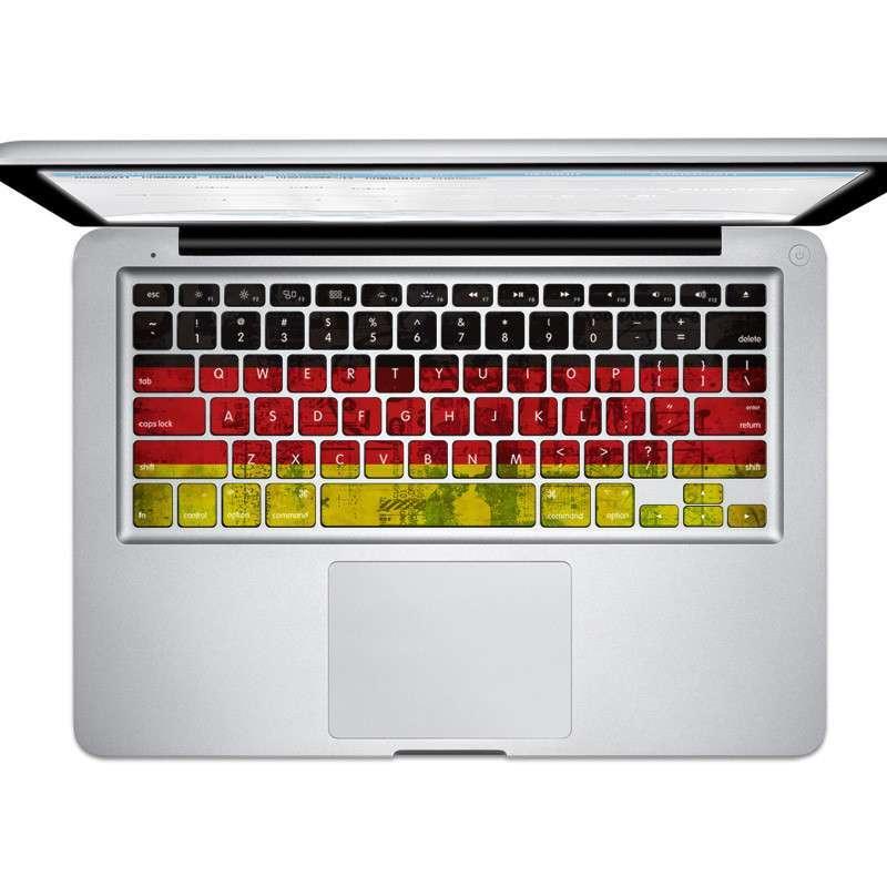 苹果笔记本彩绘键盘贴