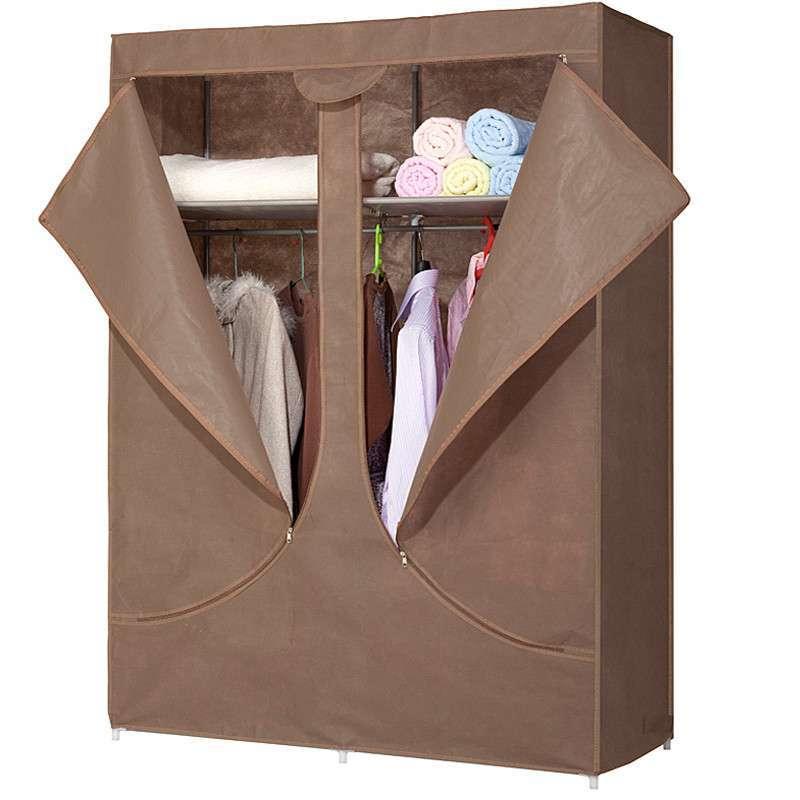 拉拉链布衣柜安装步骤图解