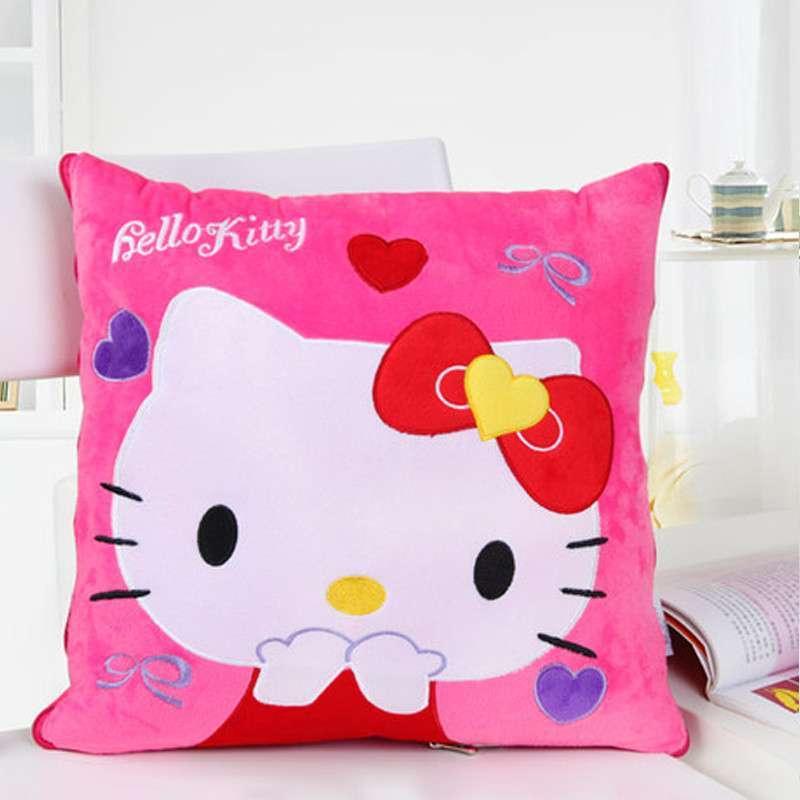 欧莱缦 多功能卡通可爱靠垫被沙发靠枕被创意抱枕被办公两用抱枕 kt猫
