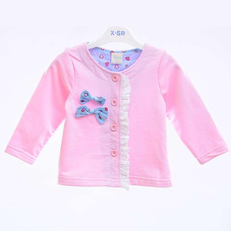 茜诗尔xsr童装 女童春装外套针织开衫女宝宝上衣长袖