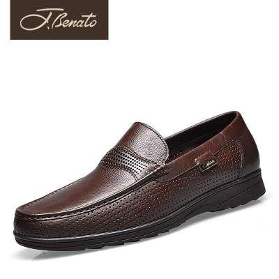 意大利宾度夏季男式透气鞋