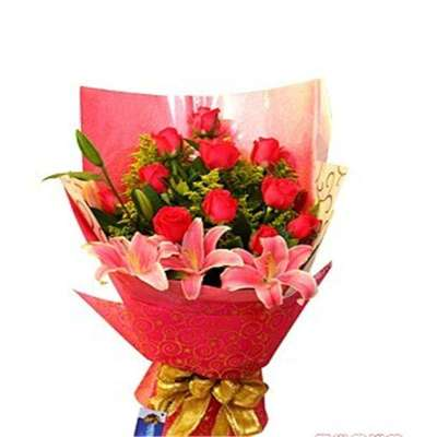 鲜花 红玫瑰百合   混搭   花束 爱的音符   苏宁易购   苏宁易购   花束   混搭   爱的印记 鲜花速递 向日葵