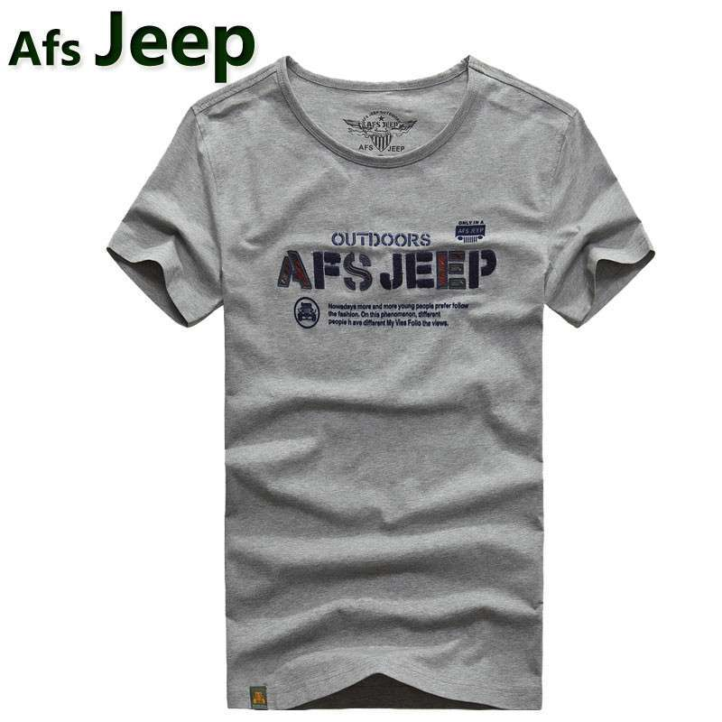 jeep圆领短袖t恤