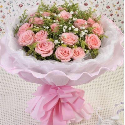 21朵粉色戴安娜玫瑰