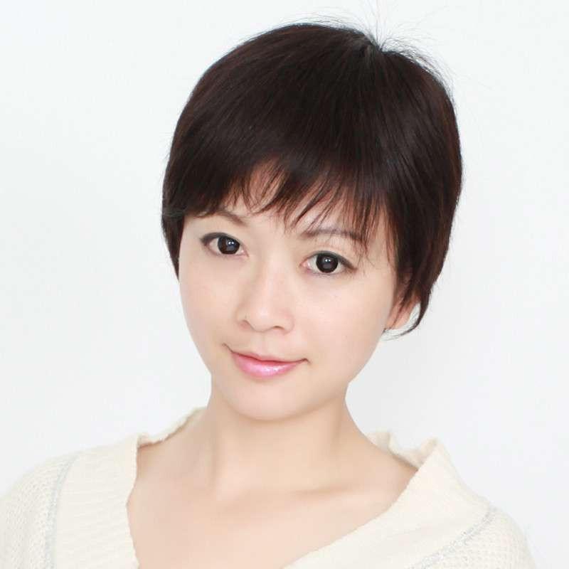 玫瑰雨女士真发假发短女 时尚层次感直发发型假发套真人发丝jiafa图片