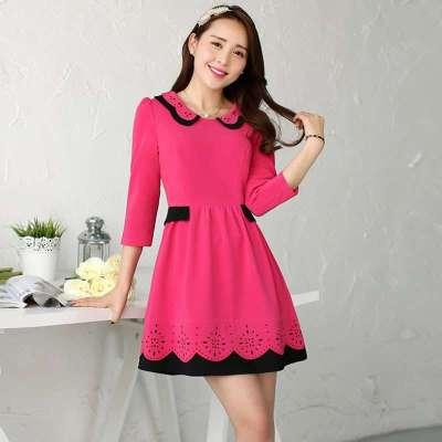 玫斯妮2014春装新款韩版修身连衣裙女装公主裙女士裙