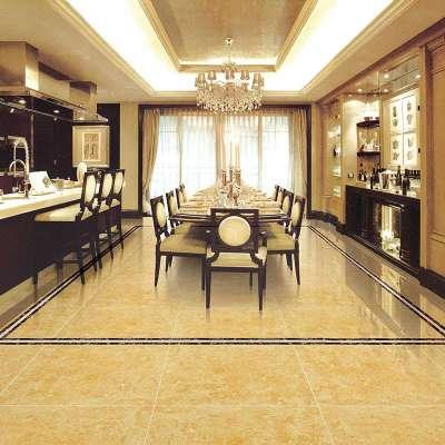 楼兰瓷砖 黄金甲 全抛釉客厅地砖 80x80 地板砖 客厅全抛釉砖 hd80506