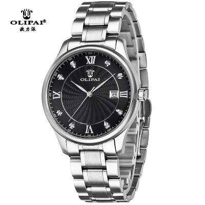 瑞士olipai欧力派手表 男士手表正品时尚手表防水手表全钢男表高清图片