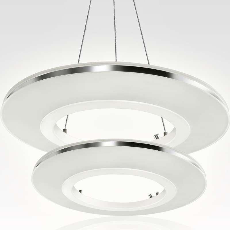 半缕光坊 led吊灯md8166a 圆环形创意亚克力灯具(正白光,中环 内环)图片