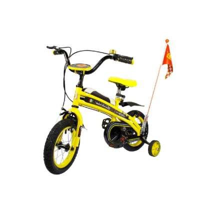 儿童   自行车   单车 黄色款 14寸 法拉利儿童车脚踏车   高清图片
