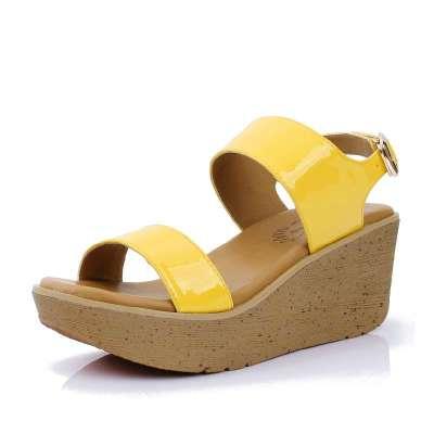 exull依思q2014新品单鞋甜美休闲舒适松糕坡跟蝴蝶
