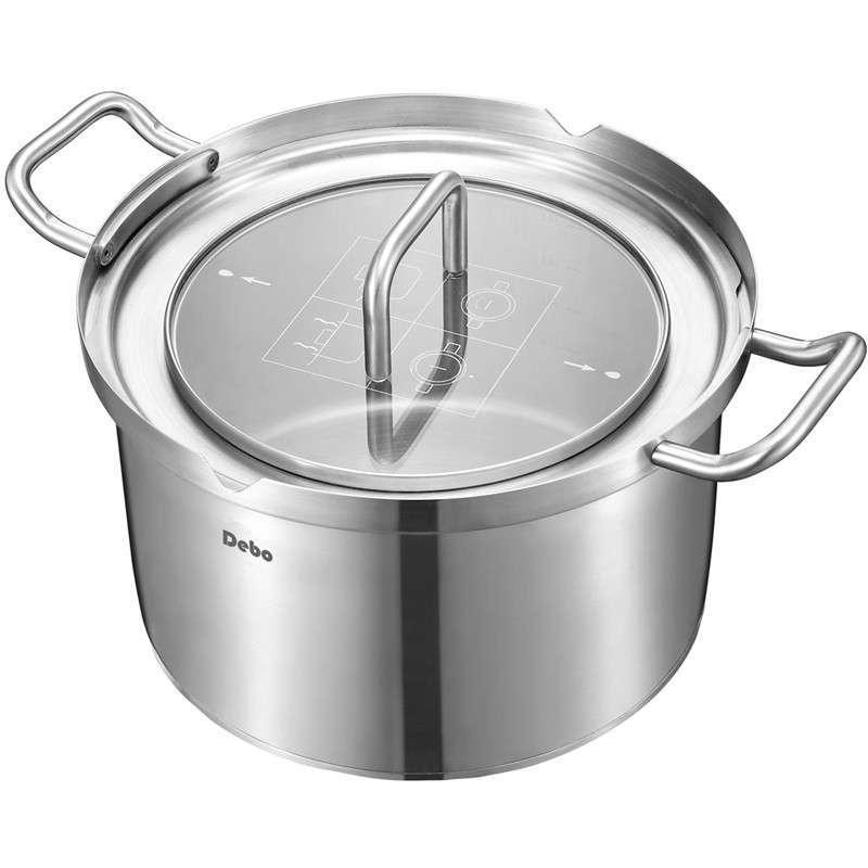 尔堡20CM汤锅锅盖一体锁扣,1.2毫米厚锅体,密