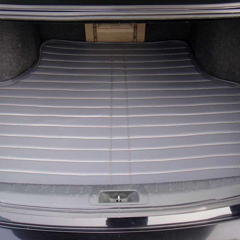 标致308 3008 307 207 408508汽车皮革后备箱垫子尾箱垫后仓垫 时尚灰