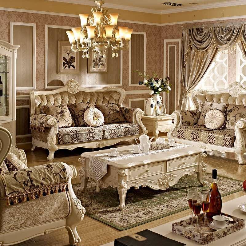 实木客厅时尚田园欧式沙发组合布艺家具