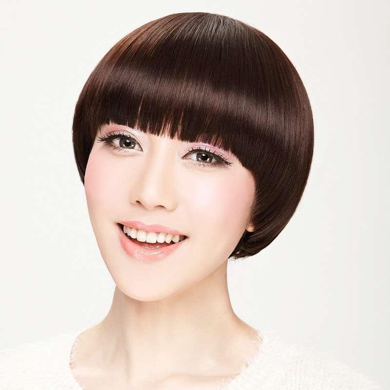 娇滴假发短发 帅气蘑菇头 齐刘海短直发bobo头 修脸 非主流 时尚图片