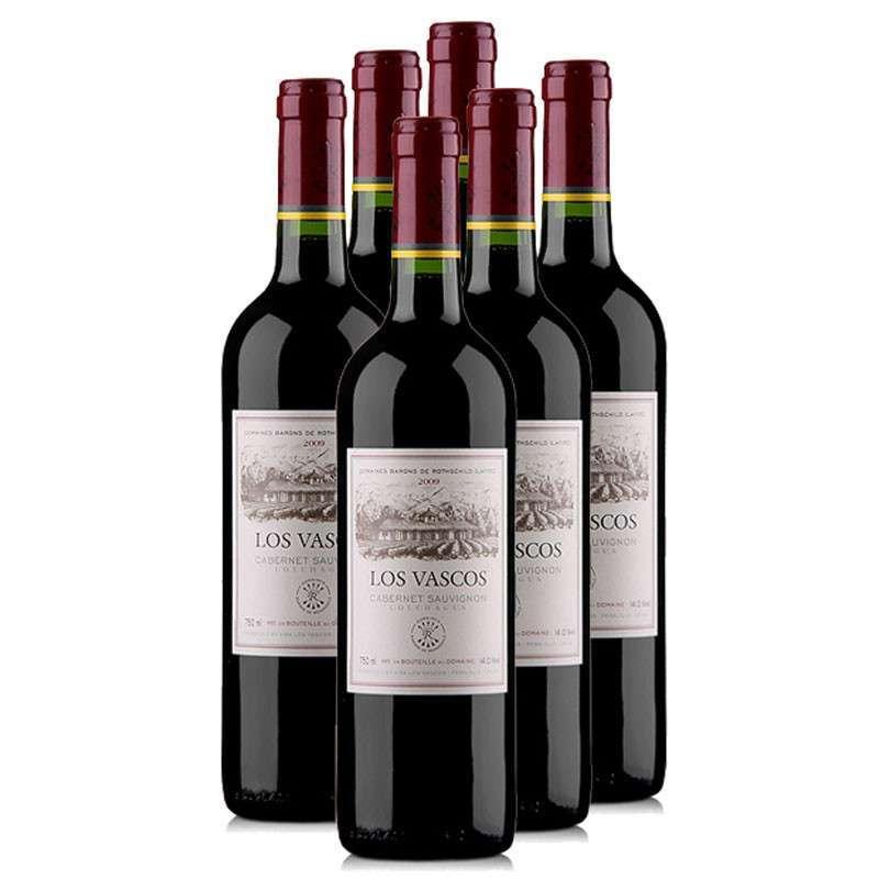 苏维�_也买酒 智利 原瓶原装进口 巴斯克卡本妮苏维翁红葡萄酒【整箱6瓶】