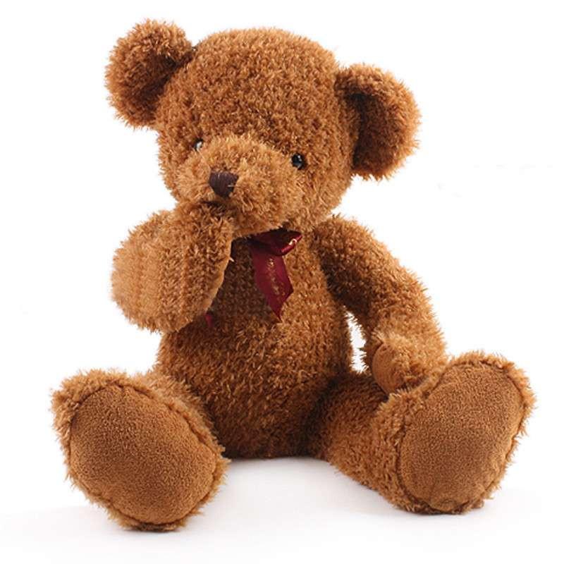 熙幼伊 超可爱不听不说不看三不泰迪熊公仔抱抱熊害羞