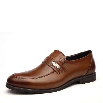 名郎2014年正装商务皮鞋休闲鞋男士真皮婚鞋透气低帮