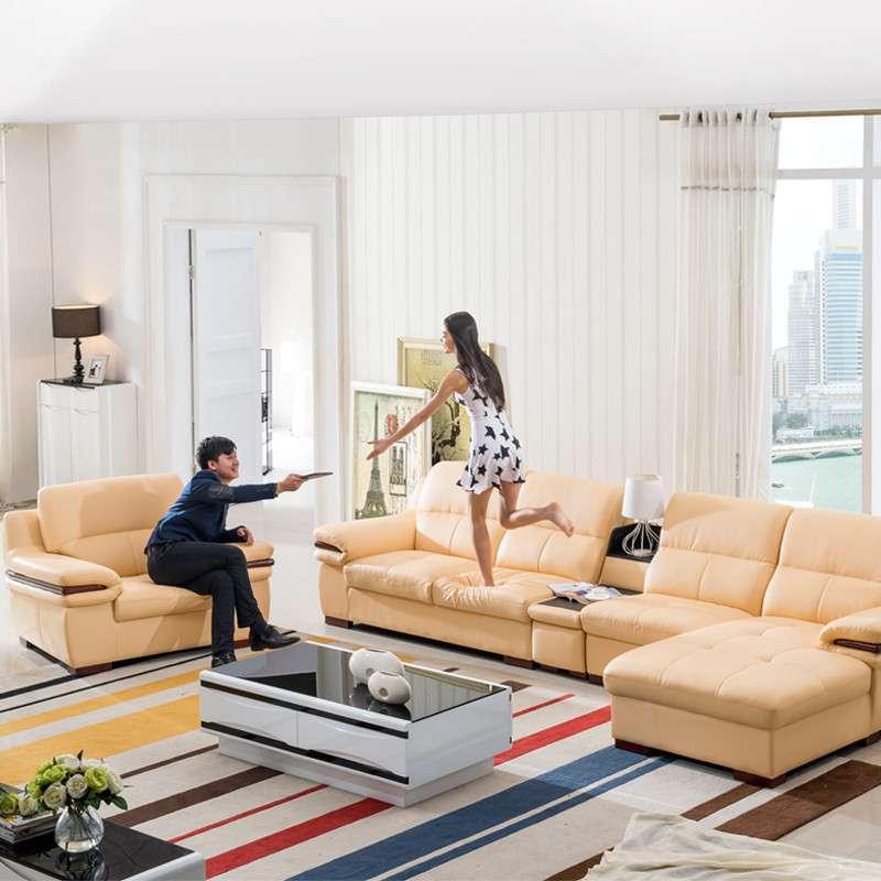 圣罗伦 真皮沙发 头层牛皮 客厅沙发 皮沙发 组合 家具 沙发 左贵没