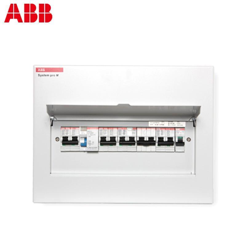 abb 强电配电箱/暗装/金属面盖/10回路空气开关箱 acm10-fnb