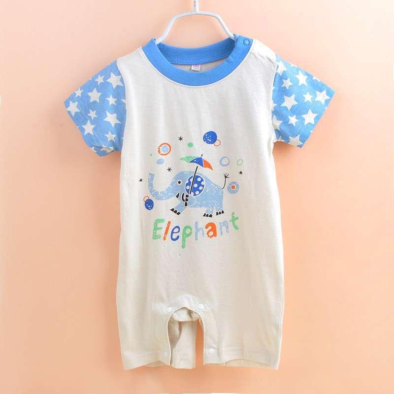 南极人2014婴儿衣服新生婴儿宝宝衣服夏装连体哈衣爬服婴儿连体衣