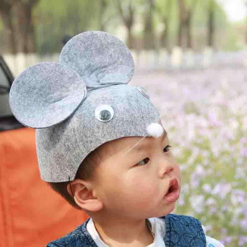 六一儿童节 动物帽子 兔子 瓢虫 青蛙 小狗 小猪 猴子 头饰帽子 老鼠