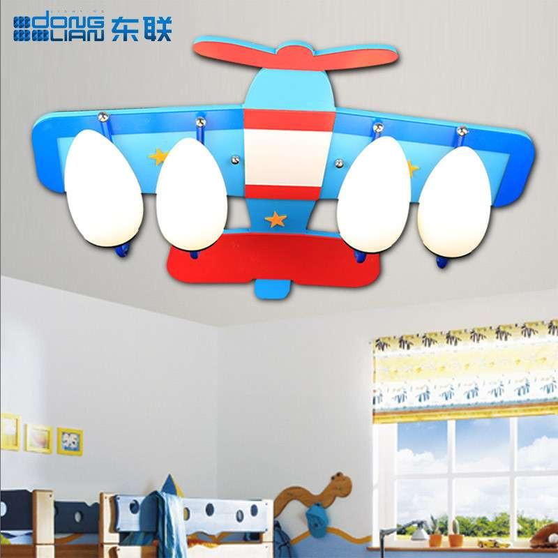 东联儿童灯飞机灯儿童房吸顶灯创意灯具卧室灯卡通灯饰灯具x163大号四