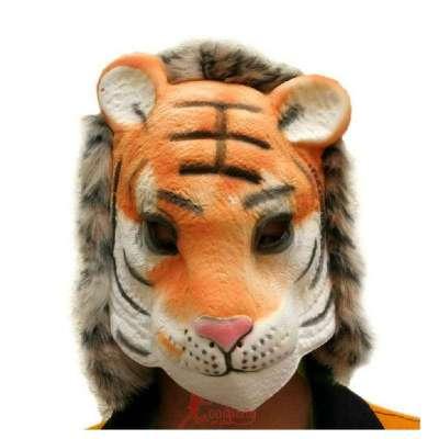 万圣节面具 动物面具 eva材质面具 包头套头面具 老虎