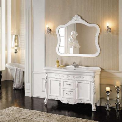 大理石欧式浴室柜 实木仿古卫浴柜洗手盆柜