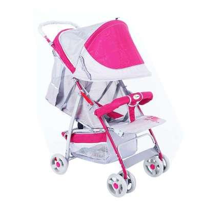 (国产推车好价)永久便携式婴儿车儿童推车B720粉色 ¥208