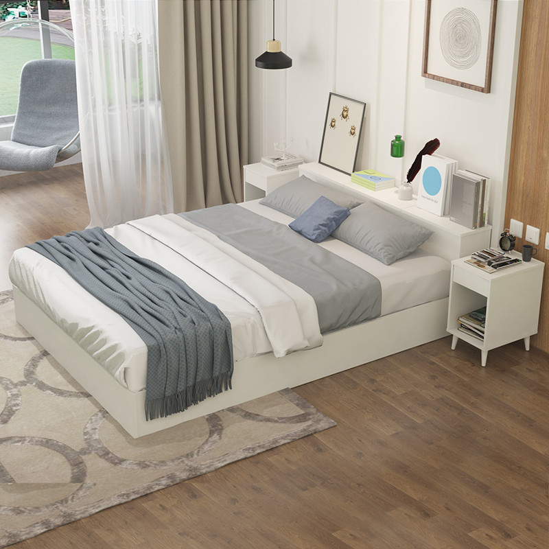 择木宜居双人床单人床大床木床板式床