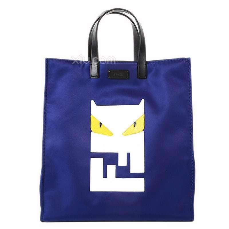 2014春夏新品 fendi 芬迪 男士个性设计标志购物手提包 7va245 n8p f0