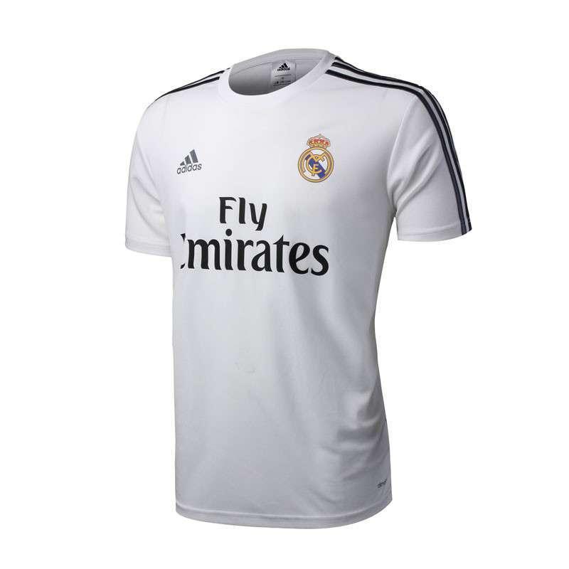 adidas阿迪达斯新款生活足球服男装俱乐部针织皇马专业服短袖t恤g7329