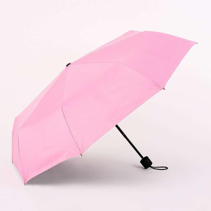 日本品牌 FaSoLa 晴雨伞 三折遮阳伞 素色太阳