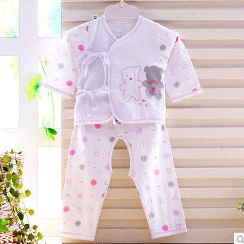 新生儿和尚服纯棉 哈米奇咪初生婴儿内衣套装