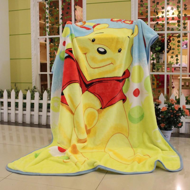 【英凰家纺】英凰可爱卡通单层加厚云毯拉舍尔大童毯