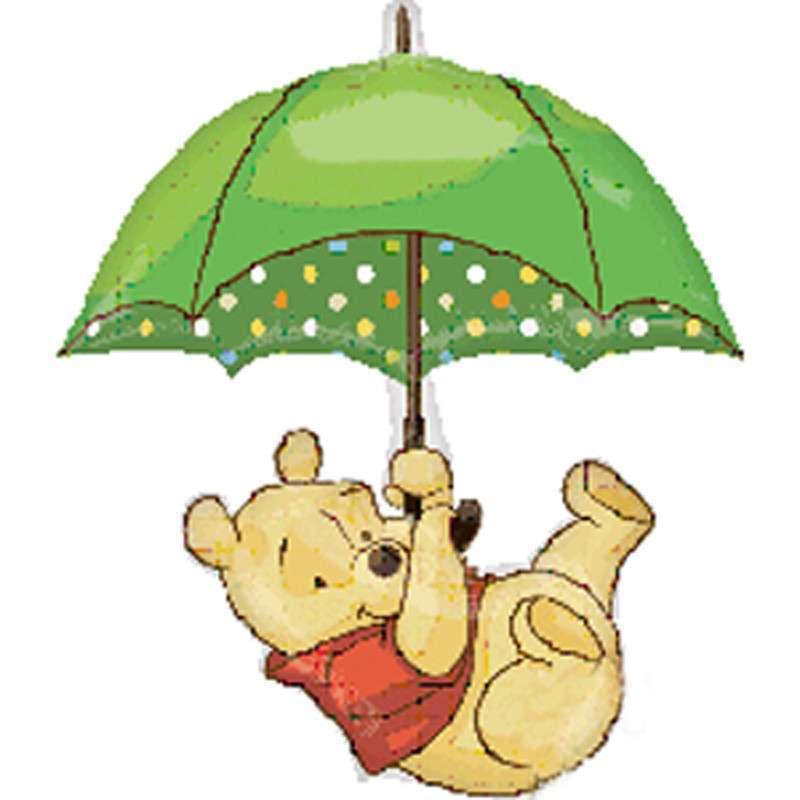 孩派highparty打伞的维尼熊气球/party用品/宝宝派对装饰/大号