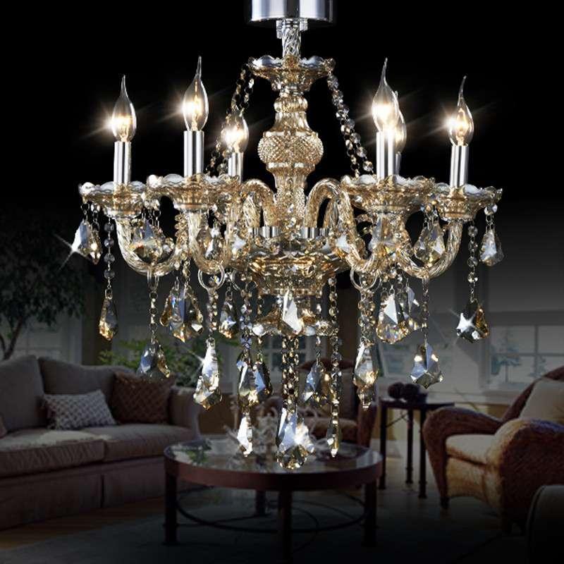 欧式水晶吊灯客厅灯led蜡烛吊灯餐