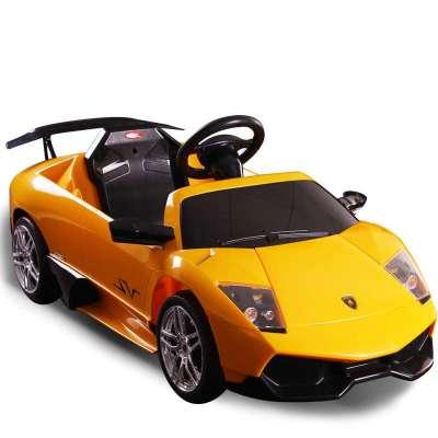 快乐年华儿童电动车四轮遥控可坐兰博基尼玩具汽车