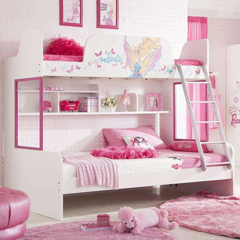 多喜爱儿童家具 儿童床女孩高低子母床双层床公主