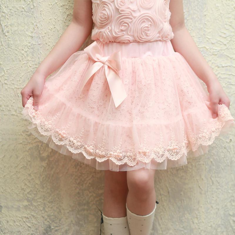2014春夏童装童装女童半身裙儿童短裙纱裙裙子蓬蓬裙童裙公主裙 粉红