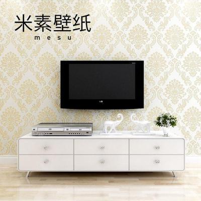 米素壁纸 高档欧式大马士革墙纸 卧室客厅电视背景墙壁纸 蒂丝尼 sy48